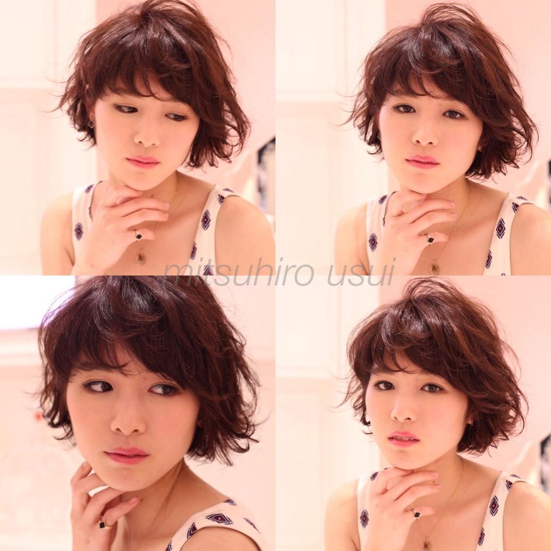 薄井 光弘さんのヘアスタイルの写真。テーマは『おフェロ、ショート、アッシュグレージュ、秋カラー』