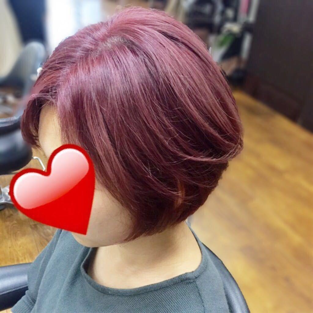 橋本 諒大さんのヘアスタイルの写真。テーマは『秋カラー、ショート、ピンク、ショートボブ、ショートヘア、ショートスタイル、ボブ、ブリーチ、ブリーチカラー』