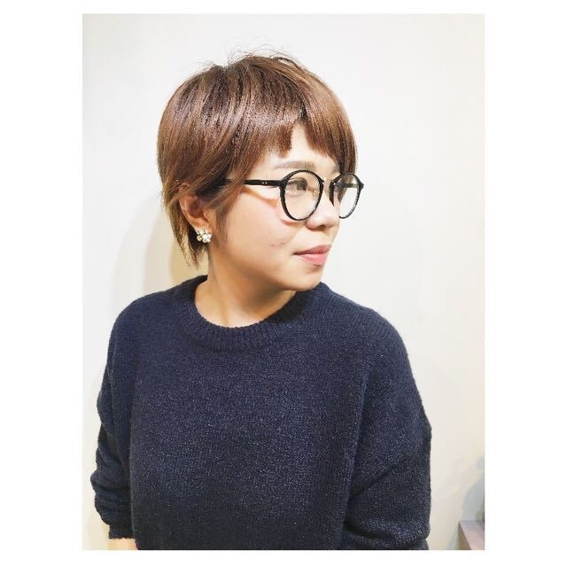 compass taichiさんのヘアスタイルの写真。テーマは『ショート、ボブ、ベビーバング、オン眉前髪』