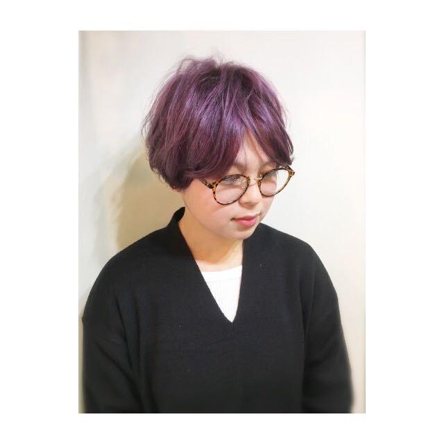compass taichiさんのヘアスタイルの写真。テーマは『ボブ、レイヤー、ショート、ベビーバング、ピンク』