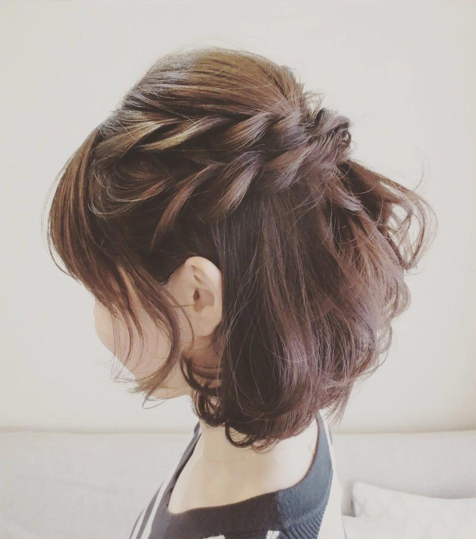 七五三での母親の髪型ミディアム・ショートヘア編「ハーフアップで優しげなママルックに」