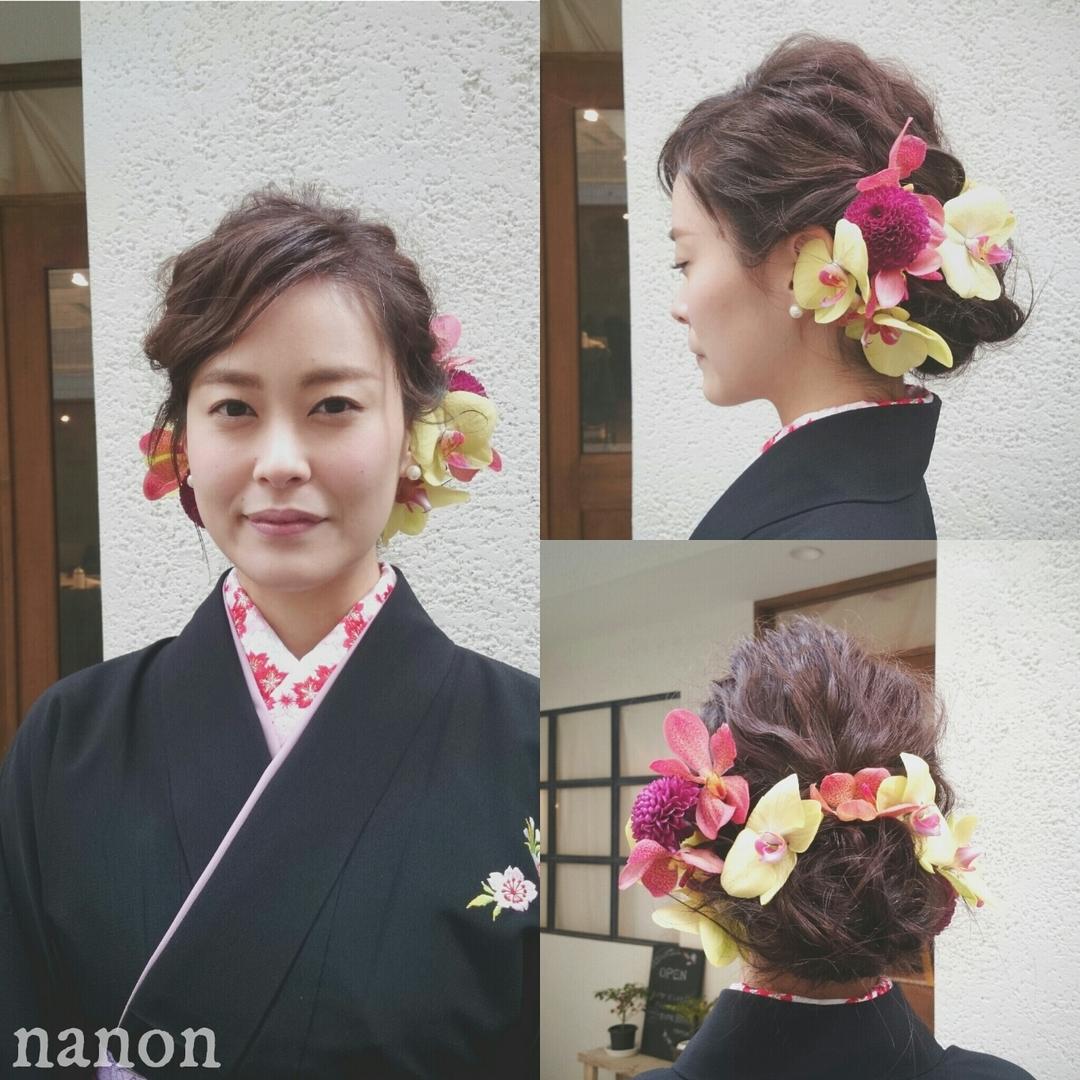 浦川 由起江さんのヘアスタイルの写真。テーマは『ヘアアレンジ、春ヘア、卒業式、卒業式ヘ』