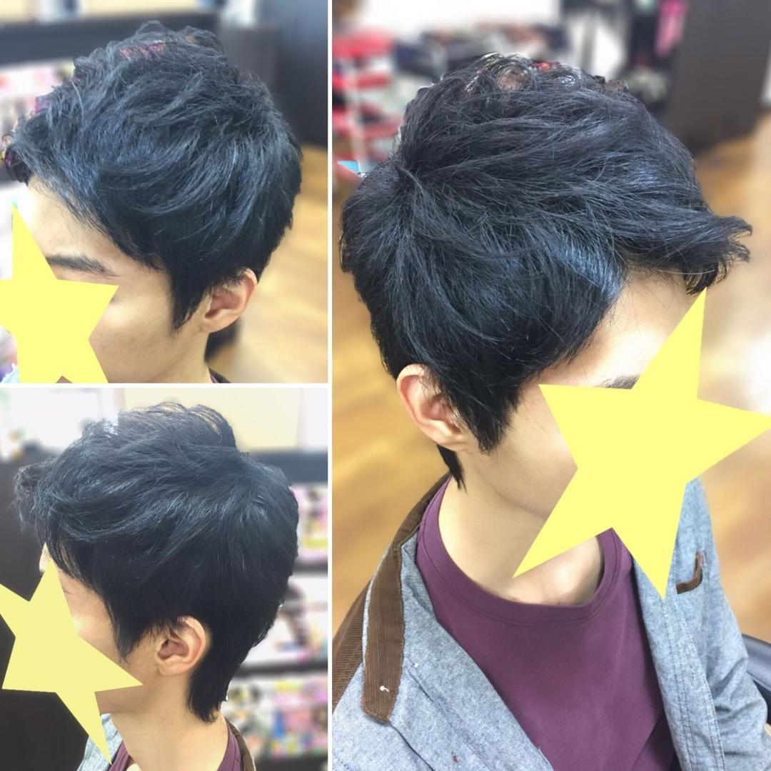 橋本 諒大さんのヘアスタイルの写真。テーマは『美容室、美容院、ヘアサロン、美容師、美容室シャンプー杉戸店、メンズ、メンズヘアスタイル、メンズセット、ヘアスタイル、ヘアセット、アップバング、黒髪』