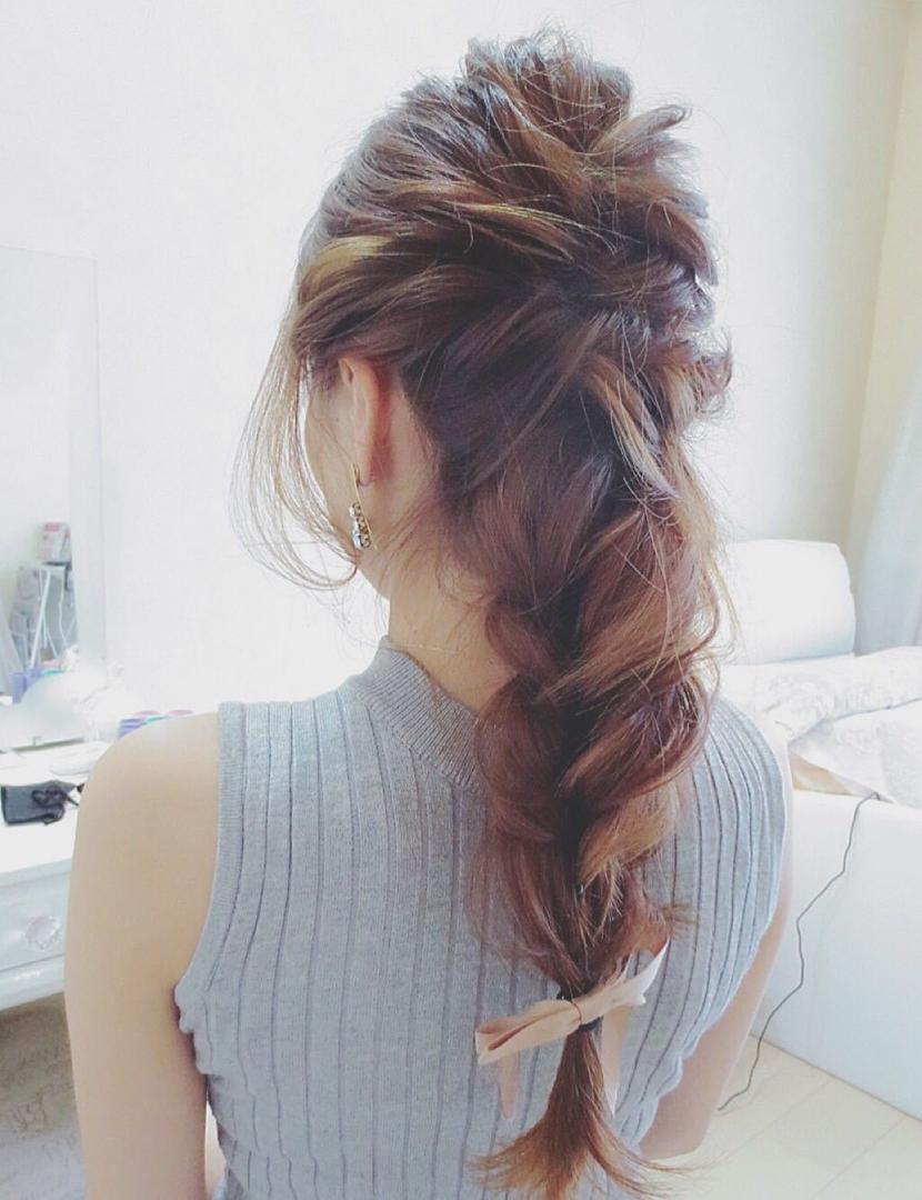 nail salon remercierさんのヘアスタイルの写真。テーマは『ロープ編み、名古屋市、ルメルシェ』