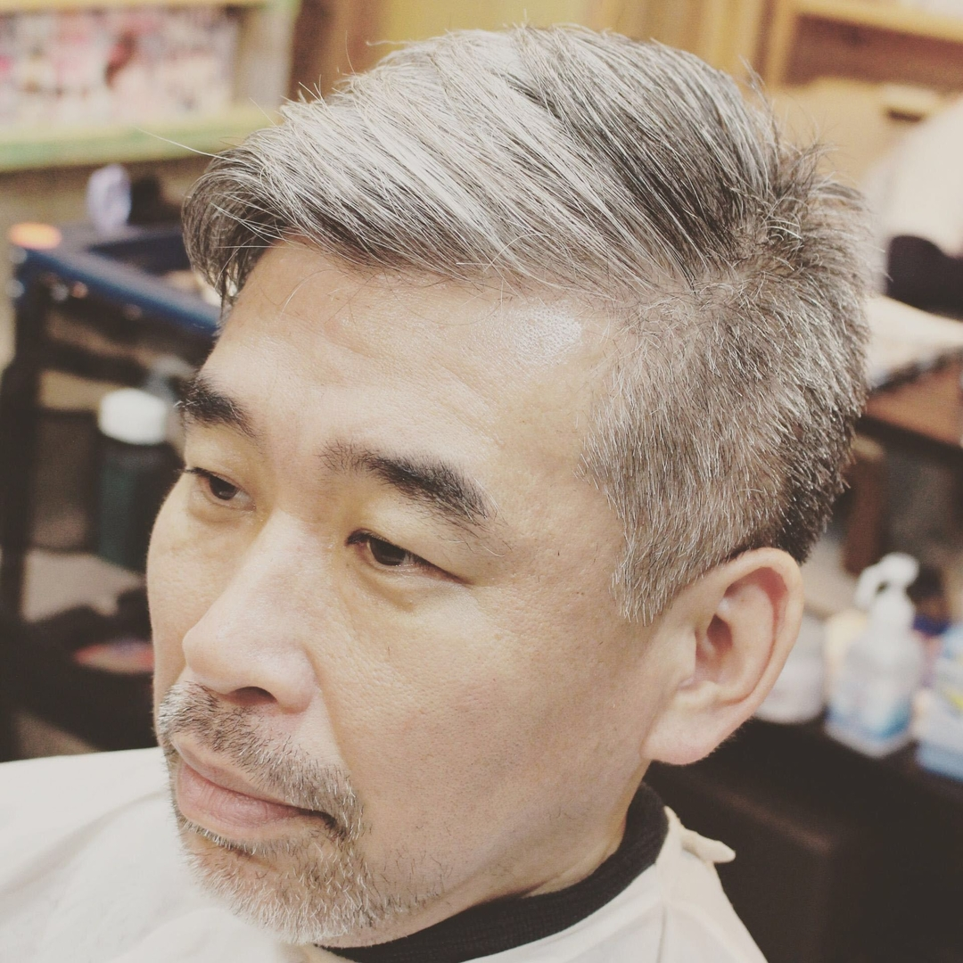 zyosehustepさんのヘアスタイルの写真。テーマは『ショート、メンズカット、鹿児島、美容室、男性、スタイル、短髪、男性ショート、ちょいわる親父』