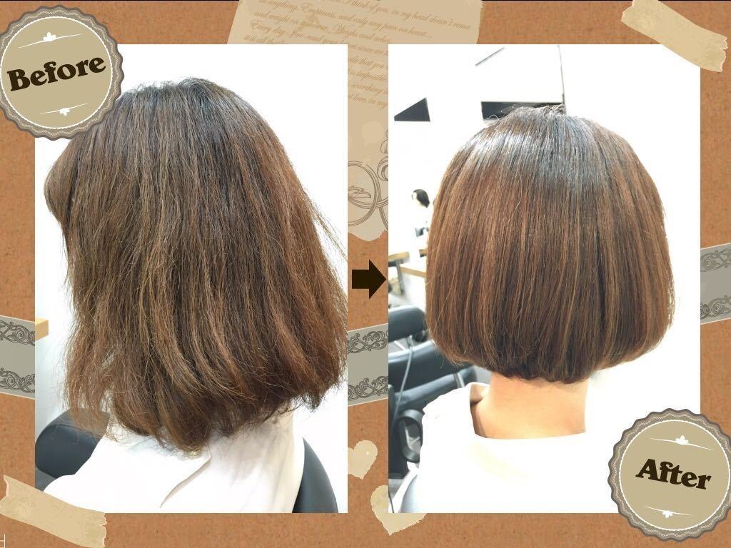 Hiroshiさんのヘアスタイルの写真。テーマは『表参道、DeA、表参道美容室、ヘアサロン、ボブスタイル、イメチェン』