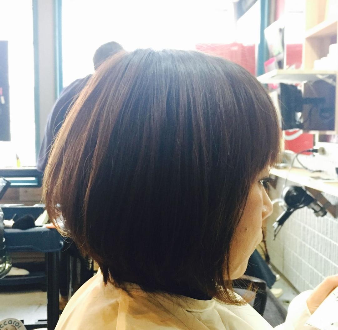 zyosehustepさんのヘアスタイルの写真。テーマは『ショート、ボブスタイル、ボブ、パーマ、ボディーパーマ、アラフォー、おしゃれママ』