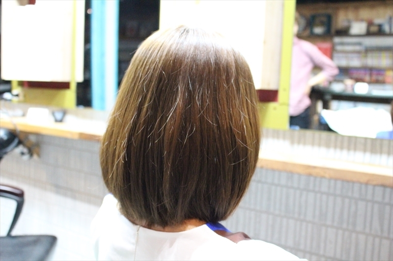 zyosehustepさんのヘアスタイルの写真。テーマは『マットアッシュ、マットカラー、夏ヘア、ボブスタイル、中国人、おもめスタイル、セイムカット』