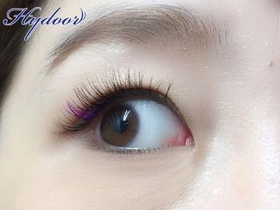 ♡パープル♡カラーエクステ♡  http://mei-blog.com/colorextension/purple/   #まつエク #まつ毛エクステ #Hydoor #ヒュドール