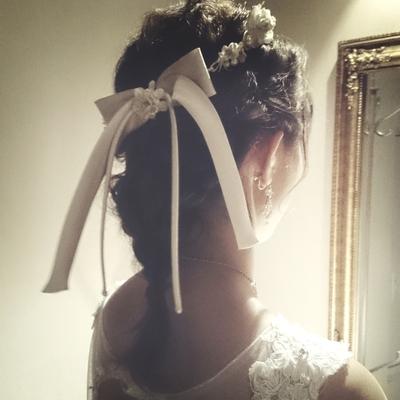 wedding hair♡ #wedding hair #ヘアアレンジ #ウエディング #ウェディングヘア #編み込みアレンジ