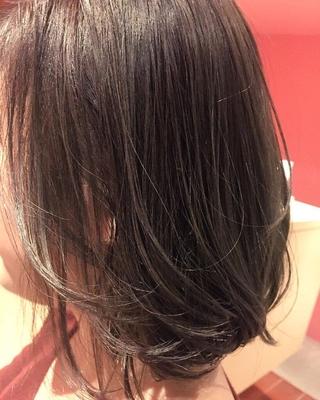シングルカラーのグレージュカラー☆(ベースが明るい必要があります) 透明感Maxのグレージュカラーです!  #アッシュグレージュ #ボブ #グレージュ #アッシュ #グレー #hairstyle #haircolor #秋カラー