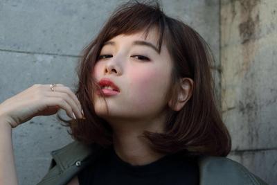Style #秋カラー #撮影 #サロンモデル #ボブ #ベビーバング #メイク #パーマ