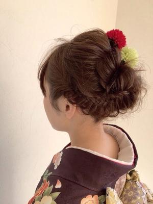 #成人式髪型 #編み込み
