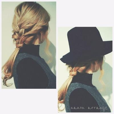 ✦my hair arrange✦ 三つ編みMIXアレンジです。 nanon #三つ編み #ヘアアレンジ