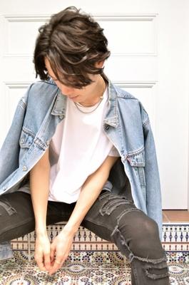 メンズミディアム #エフォートレス #ミディアム #メンズ #黒髪 #パーマ