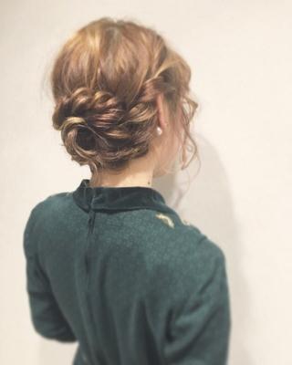 たまにはクラシックなスタイル! #アレンジ#ロング#ミディアムロープ編み