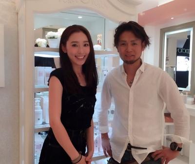 ビューティママモデルの殿柿 佳奈さん ご来店‼️  カットとカラーをしに来てくれましたよ(^-^) http://s.ameblo.jp/kana-tonogaki/  いつも、ありがとうございます‼️