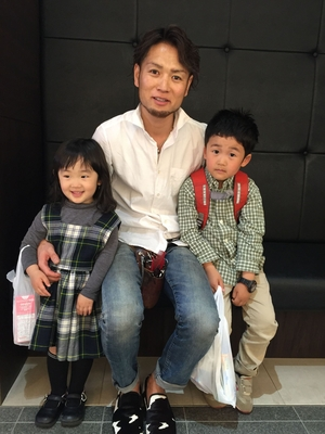 兄貴の子供2人が髪の毛切りに来てくれました(^-^)  いや〜‼️ 嬉しい限りですね笑  #cuzco薄井