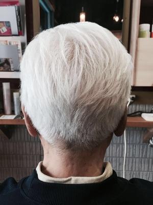 綺麗な白髪カットも大歓迎!!  鹿児島の深夜遅くまで営業している美容室kaze  #ショート #メンズカット #鹿児島 #美容室 #男性 #スタイル #短髪 #男性ショート
