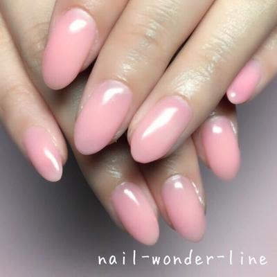 #オリジナルカラー #ピンク #ワンカラー #オフィスネイル #大人ネイル #シンプル