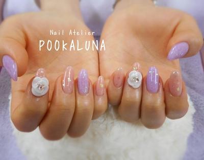 パープルのドロップアートに3Dのお花をのせました。 All自爪なお客様。折れずに伸びてくれると嬉しいです(^^) ご来店ありがとうございました(*^^*)  #デザイン定額7000円   #須賀川市 #ネイル #ネイルサロン #nail #naildesign #nailart #nails   #gelnails #美甲  #プーカルーナ #POOKALUNA #須賀川ネイル  #エースジェル #福島県 #acegel  #ジェルネイル #gelart #須賀川 #ジェル #夏ネイル  #フィルイン #一層残し #パープルネイル #ドロップアート #3Dネイル  #3D #フラワーネイル  #flowers