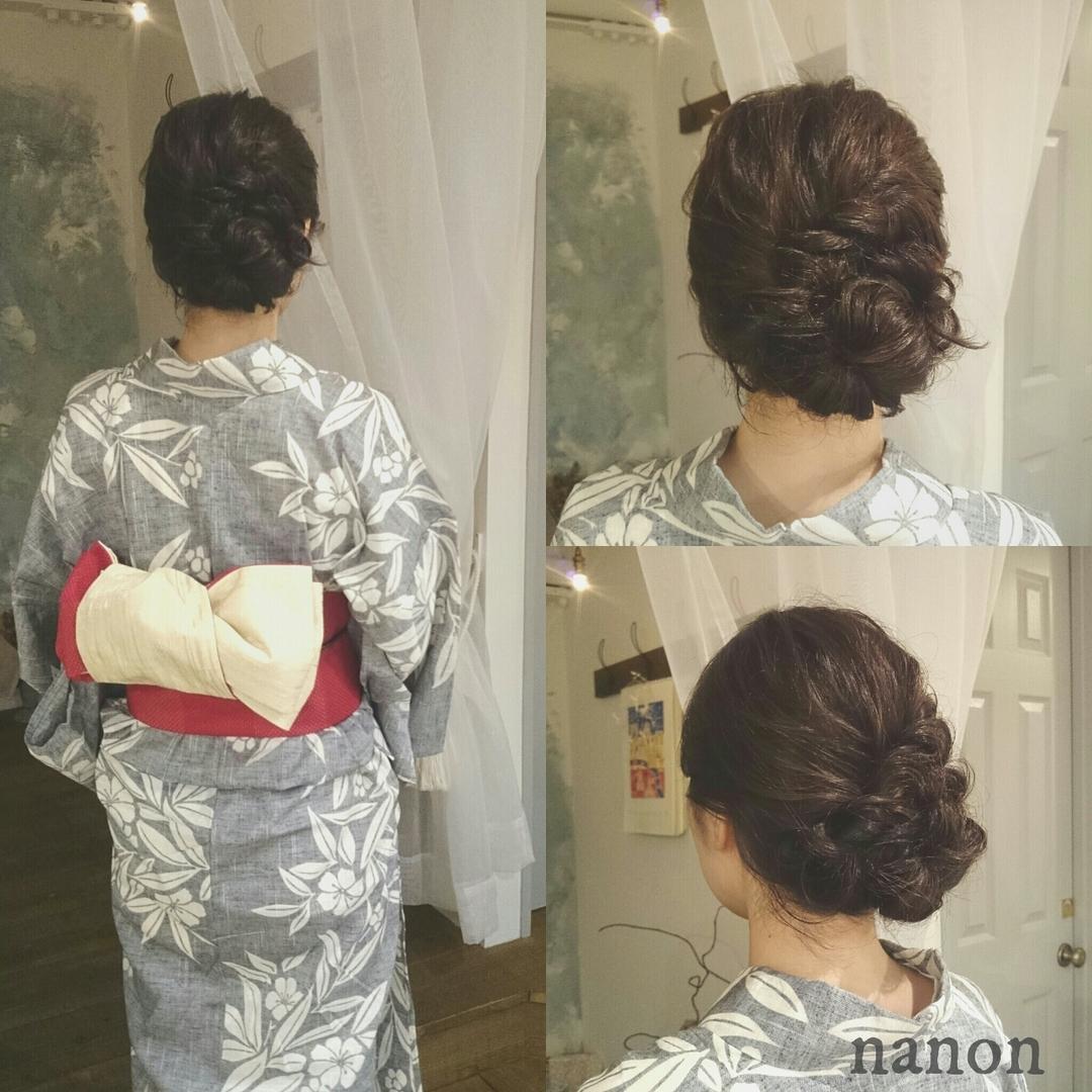 浦川 由起江さんのヘアスタイルの写真。テーマは『浴衣アレンジ、ヘアアレンジ』