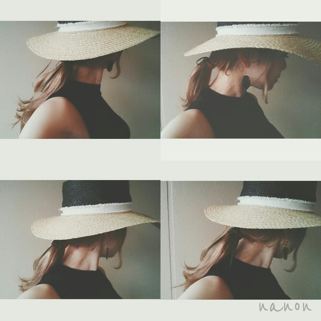 浦川 由起江さんのヘアスタイルの写真。テーマは『ヘアアレンジ、ハットアレンジ、1つ結びアレンジ、スウェードリボン』