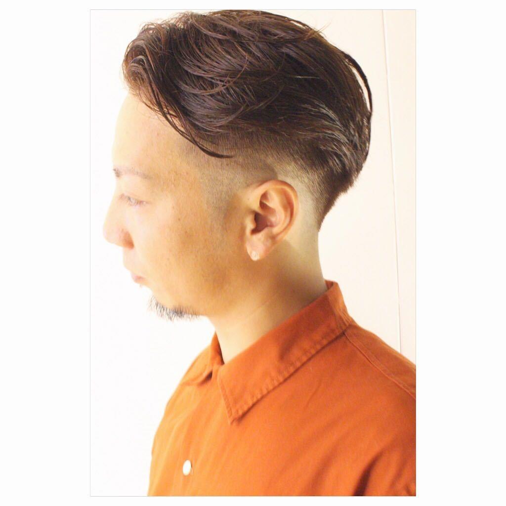 藤枝晃也さんのヘアスタイルの写真。テーマは『グラデーション刈り上げ、刈り上げ、メンズカット、メンズヘア、メンズ、ヘア、刈り上げスタイル』