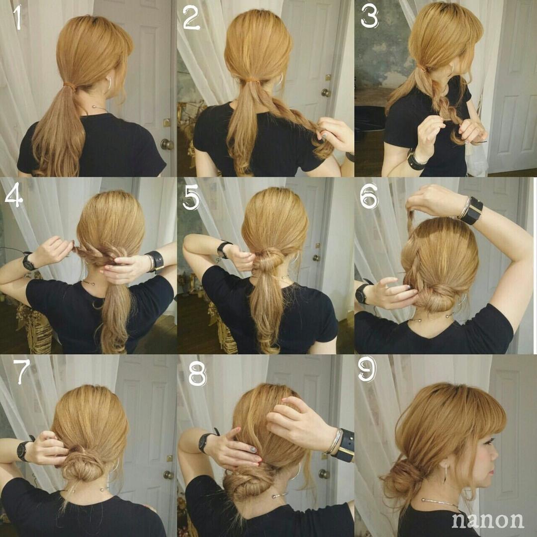 浦川 由起江さんのヘアスタイルの写真。テーマは『ヘアアレンジ、ルーズおだんご、ヘアアレンジレシピ』