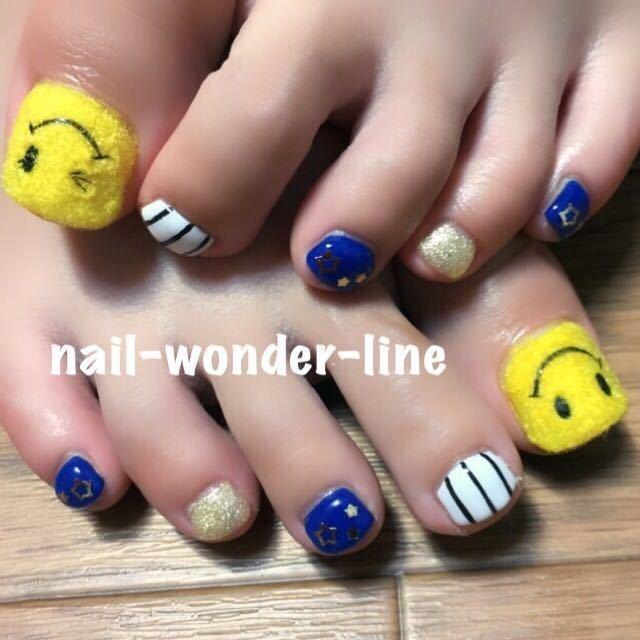nail,wonder,lineさんのネイルデザインの写真。テーマは『キャラクター