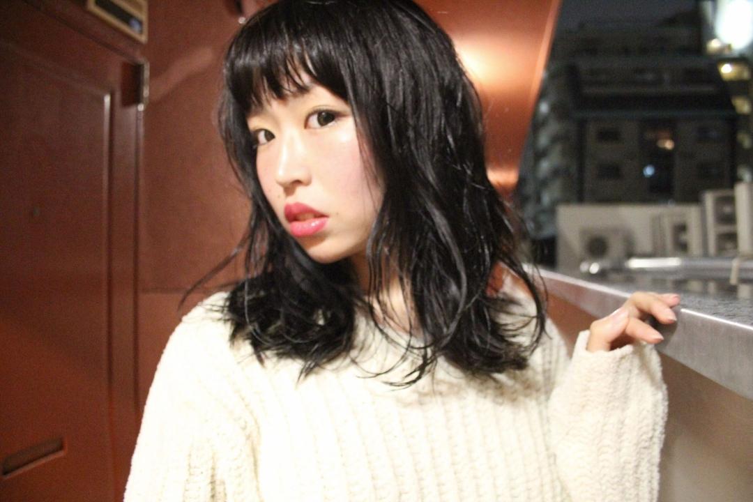 みなちゃんさんのヘアスタイルの写真。テーマは『hair2016w、福岡美容室、今泉美容室、黒髪、セミロング、mina_style』