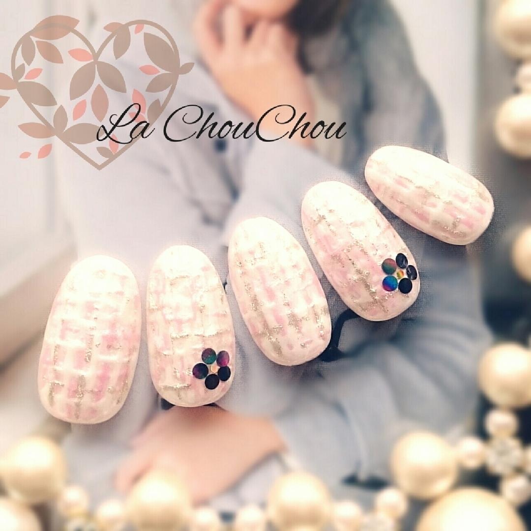 Naopi ~La ChouChou~さんのネイルデザインの写真。テーマは『nail2016w、オフィスネイル、デートネイル、ツイードネイル』