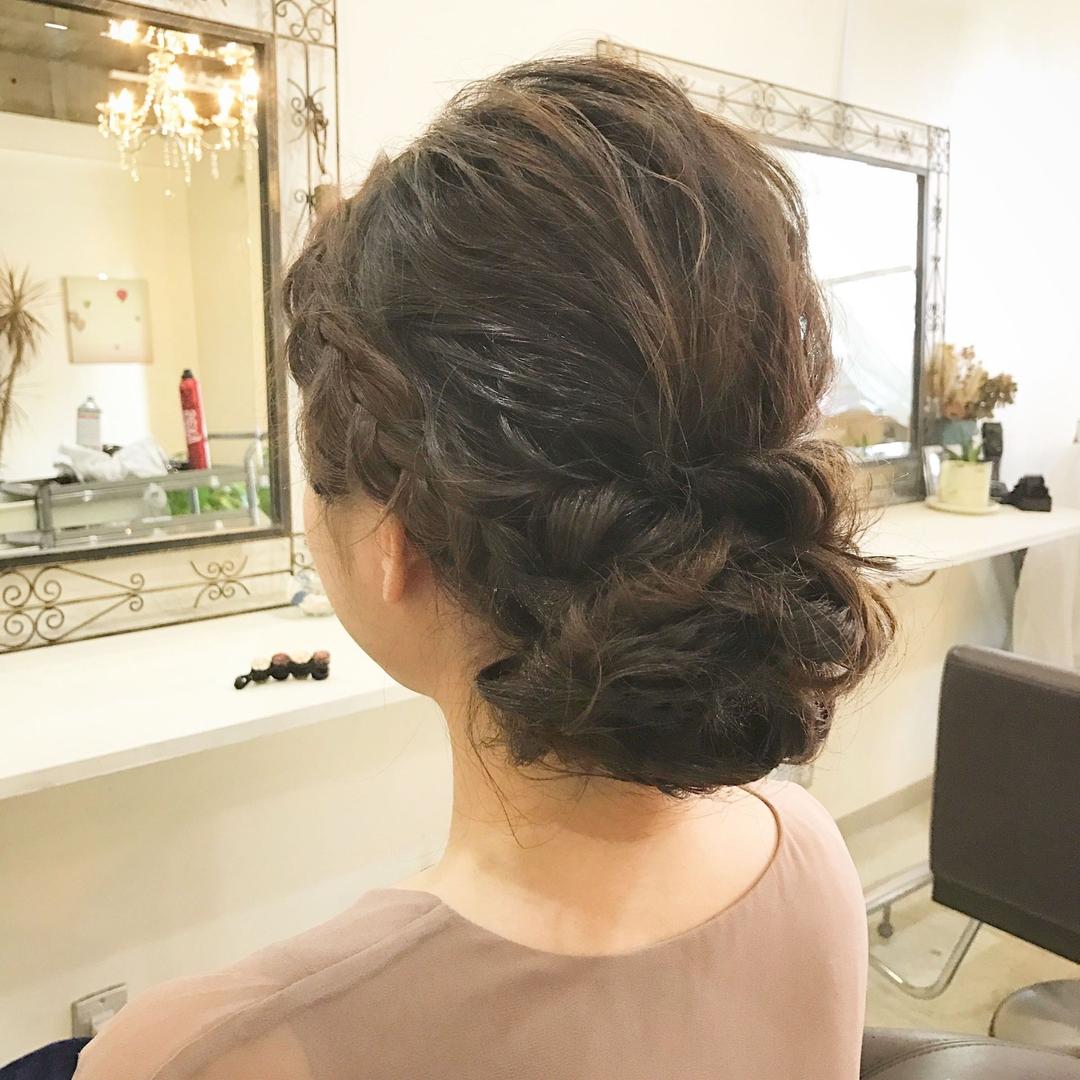 YUSUKE NAKAMURAさんのヘアスタイルの写真。テーマは『アレンジ、ヘアアレンジ、セット、お呼ばれ、結婚式』