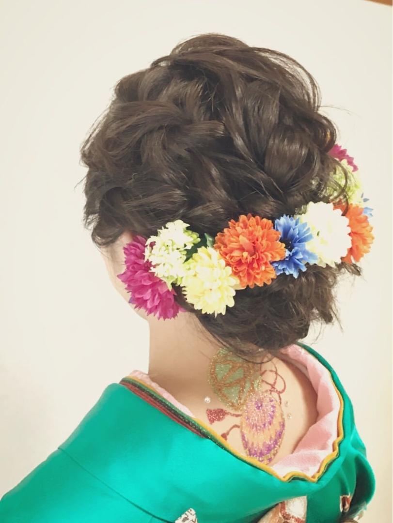 Moriyama  Mamiさんのヘアスタイルの写真。テーマは『成人式、ヘアメイク、振袖、女子力、かわいい、大人可愛い、福岡ヘアセット、ヘアアレンジ、ヘアーセット、中洲ヘアセット、パーティー、ボディージュエリー福岡、Threekeys、スリーキーズ、JAPAN、着物、福岡ヘアサロン、ブライダル、結婚式、ブライダルヘアー、花嫁、着付け、着物ヘア、hair、和装ヘア、プレ花嫁』
