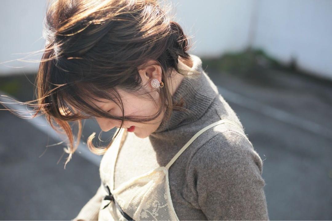 藤枝晃也さんのヘアスタイルの写真。テーマは『ハーフアップ』