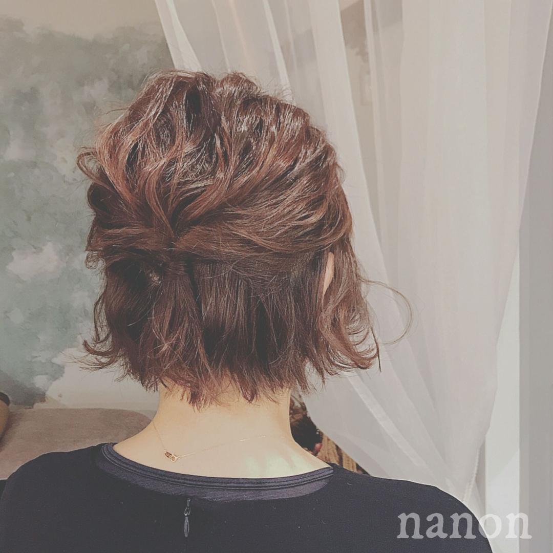 浦川 由起江さんのヘアスタイルの写真。テーマは『ハーフアップ』