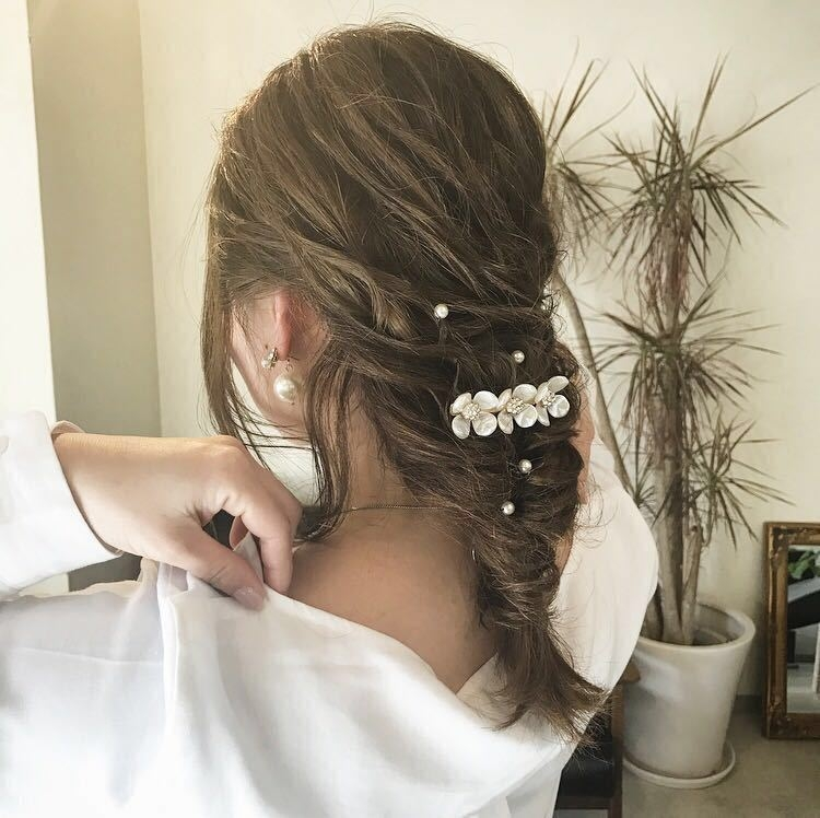 YUSUKE NAKAMURAさんのヘアスタイルの写真。テーマは『ヘアアレンジ、褒められ髪、福岡、トリコハート、ハーフアップ』