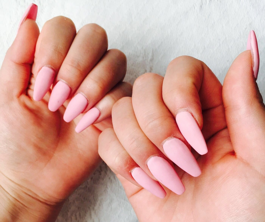aaanaさんのネイルデザインの写真。テーマは『ピンクネイル、スカルプ、マットネイル、ベビーピンク、ワンカラー』