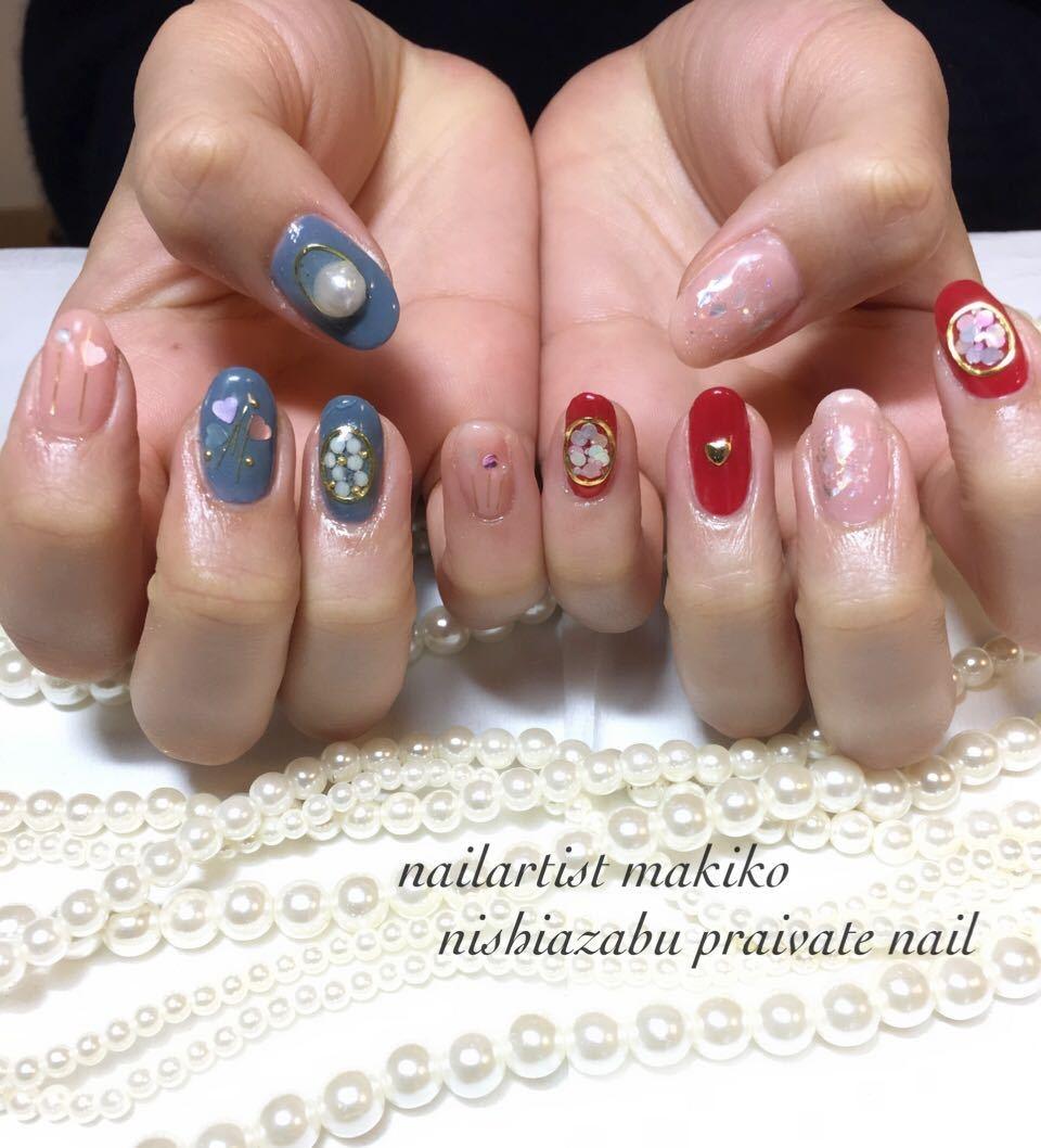 makikoさんのネイルデザインの写真。テーマは『春ネイル、ネイル』
