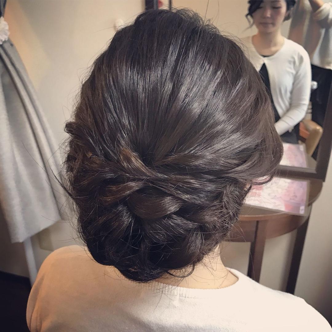 Moriyama Mamiさんのヘアスタイル 『着物に似合うスタイル#黒髪 ...