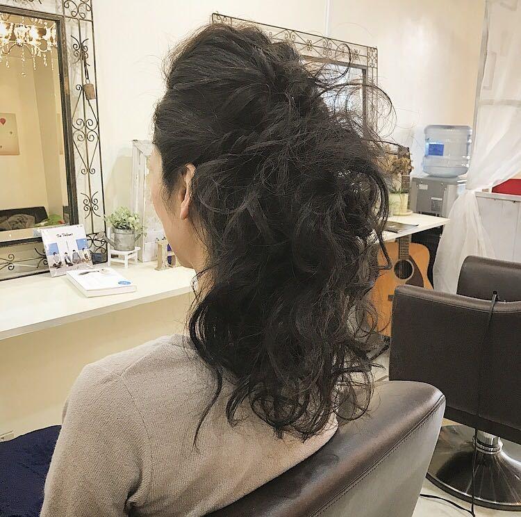 YUSUKE NAKAMURAさんのヘアスタイルの写真。テーマは『ヘアアレンジ、セット、髪型、福岡美容室、可愛い』