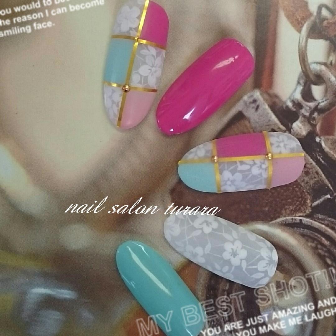 Mio Abeさんのネイルデザインの写真。テーマは『春デザイン、夏ネイル、マットネイル、フラワーネイル、手描きネイル』