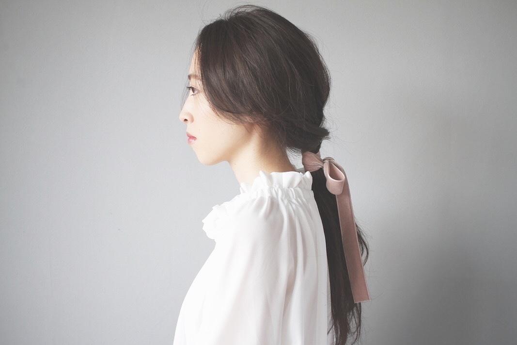 Kei  Anazawaさんのヘアスタイルの写真。テーマは『ロングヘア、ヘアアレンジ、ヘアセット、簡単ヘアアレンジ、リボン』