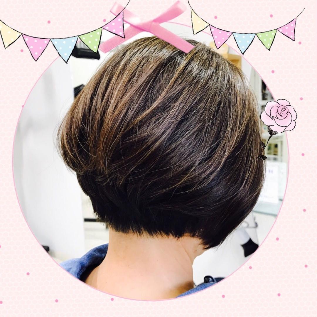 makotoさんのヘアスタイルの写真。テーマは『FAb、ボブスタイル、ナチュラルヘア、前下がり』