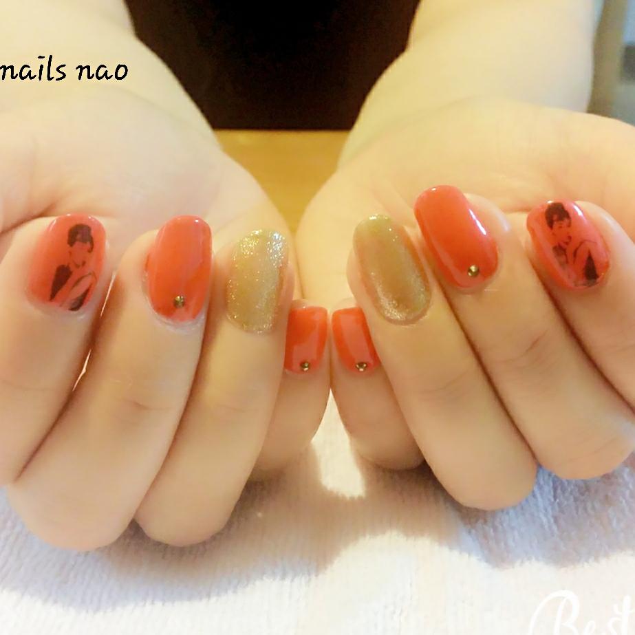 nails naoさんのネイルデザインの写真。テーマは『ワンカラー、ガーリーネイル、キャラクター』
