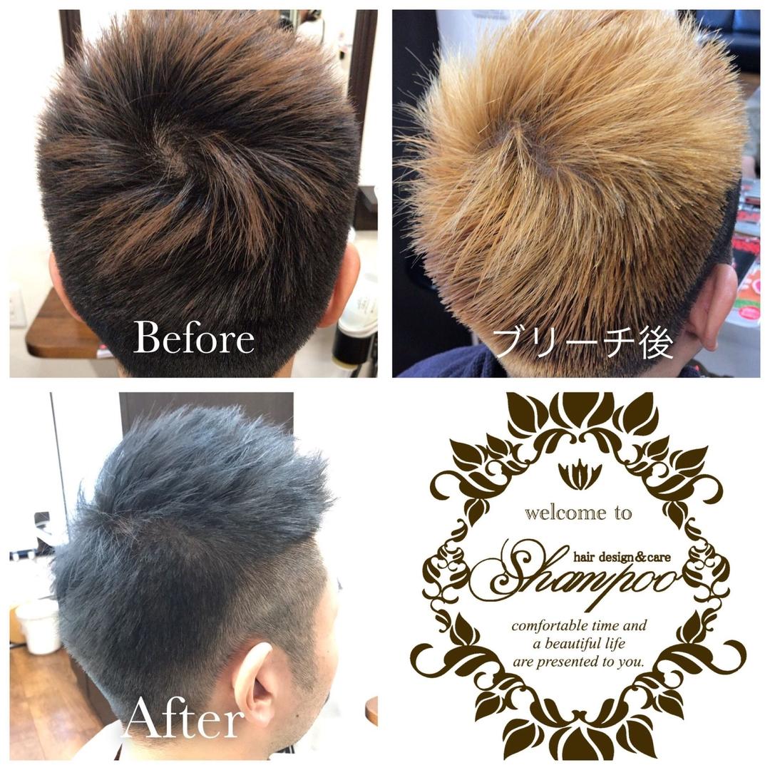橋本 諒大さんのヘアスタイルの写真。テーマは『ツーブロック、刈り上げ、アップバング、メンズ、メンズヘア、メンズヘアスタイル、ヘアスタイル、ヘアカラー、ショート、アッシュ、アッシュグレー、ブリーチ、ブリーチカラー、ブリーチサプリメント、beforeafter、hair、haircolor、hairstyle、shorthair、美容室、美容院、ヘアサロン、美容師、美容室シャンプー杉戸店、杉戸、杉戸町、杉戸高野台、宮代、宮代町、東武動物公園』