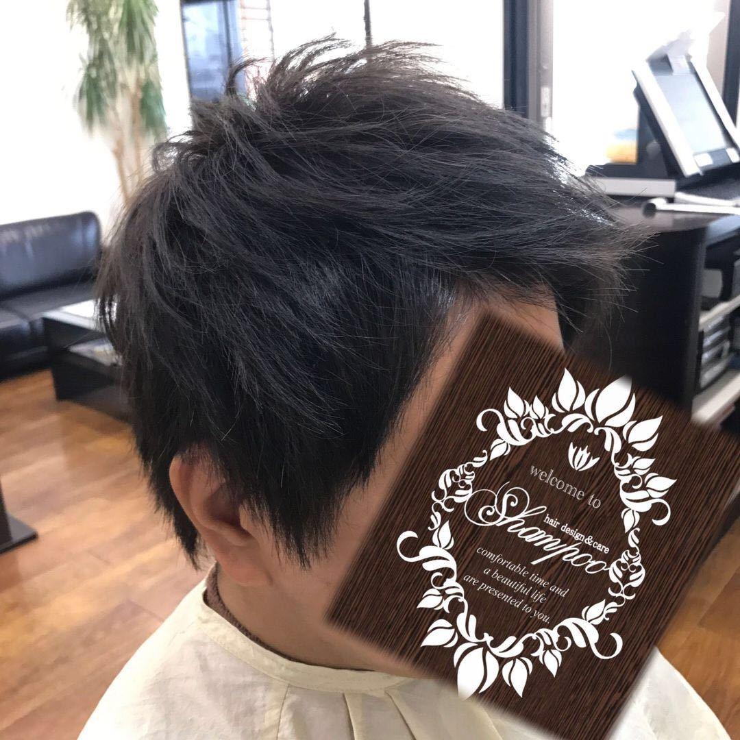 橋本 諒大さんのヘアスタイルの写真。テーマは『束感、アップバング、メンズ、メンズヘア、メンズヘアスタイル、ヘアスタイル、ヘアカラー、ショート、アッシュ、アッシュグレー、ブルーアッシュ、hair、haircolor、hairstyle、shorthair、美容室、美容院、ヘアサロン、美容師、美容室シャンプー杉戸店、杉戸、杉戸町、杉戸高野台、宮代、宮代町、東武動物公園』
