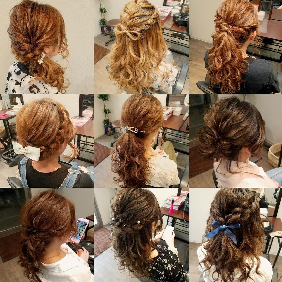 平原舞さんのヘアスタイルの写真。テーマは『宮崎市ヘアセット、宮崎市、ヘアセット専門店、セットサロン、ヘアセット、ヘアアレンジ、アップヘア、アレンジ、ねじりアレンジ、ブライダル、ブライダルヘア、結婚式、結婚式ヘアアレンジ、結婚式ヘア、およばれ、ねじり、ゆるアップ、アップ、hair、hairset、hairstyle、hairarrange、宮崎市STELLA、宮崎市セットサロン、宮崎、宮崎市美容室、宮崎美容室、宮崎市結婚式、ボブアレンジ、ヘアバトン』
