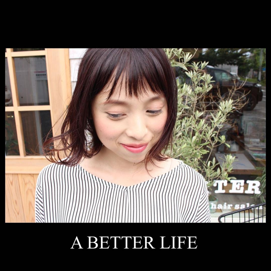 藤枝晃也さんのヘアスタイルの写真。テーマは『ボブ、ヘア、結べるボブ』