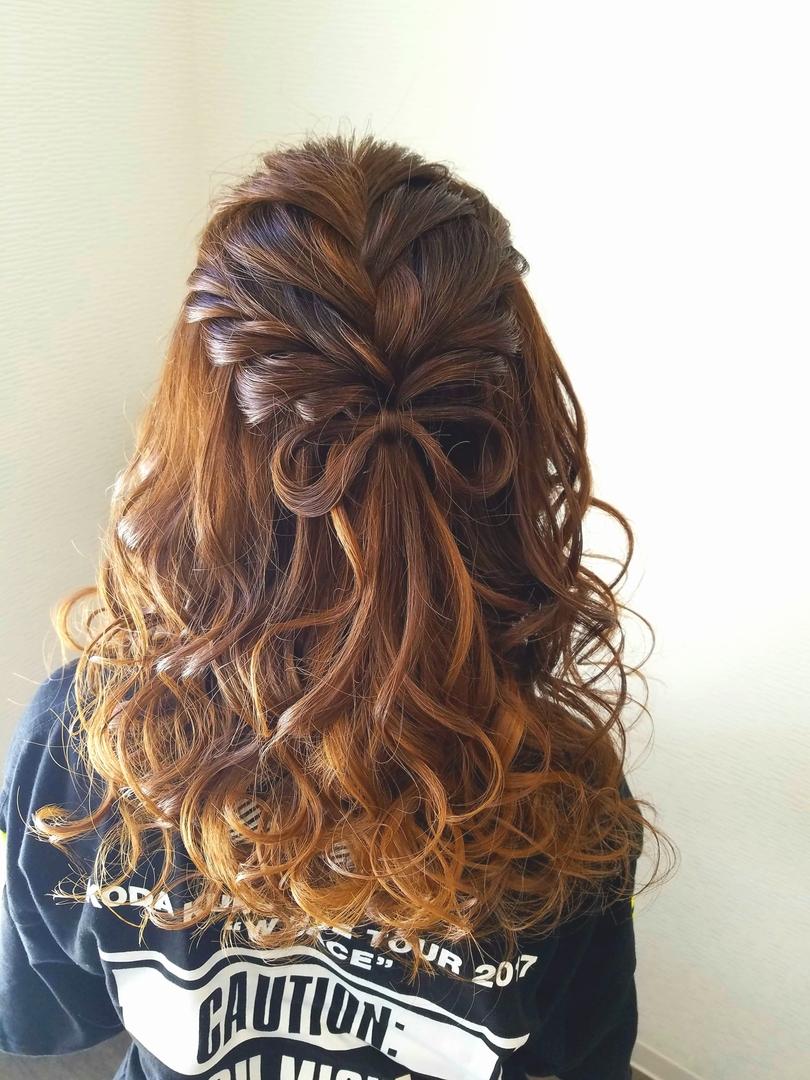 平原さんのヘアスタイルの写真。テーマは『宮崎市ヘアセット、宮崎市、ヘアセット専門店、セットサロン、ヘアセット、ヘアアレンジ、ハーフアップ、ブライダル、ブライダルヘア、結婚式、結婚式ヘアアレンジ、結婚式ヘア、編み込みヘア、宮崎、hair、hairset、hairstyle、hairarrange、宮崎美容室、宮崎市STELLA、宮崎市セットサロン、編み込み、宮崎市美容室、宮崎県、ハーフアップアレンジ、おしゃれ、オシャレ、おしゃれな人と繋がりたい、りぼん、宮崎市結婚式』